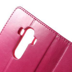 Luxury PU kožené pouzdro na mobil LG G4 - rose - 6