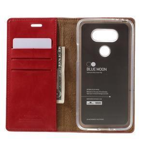 Luxury PU kožené pouzdro na mobil LG G5 - červené - 6