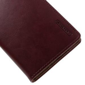 Luxury PU kožené pouzdro na mobil LG G5 - vínově červené - 6