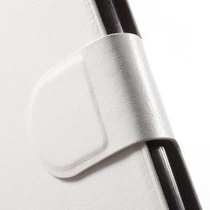 Horse PU kožené peněženkové pouzdro na LG G5 - bílé - 6