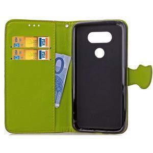 Leaf PU kožené pouzdro na LG G5 - hnědé - 6