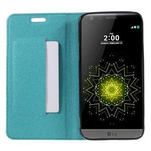 Klopové peneženkové pouzdro na LG G5 - světlemodré - 6