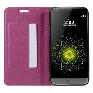Klopové peneženko pouzdro na LG G5 - rose - 6