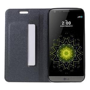 Klopové peneženkové pouzdro na LG G5 - šedé - 6