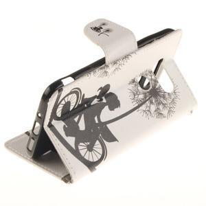 Obrázkové koženkové pouzdro na LG G5 - láska na kole - 6