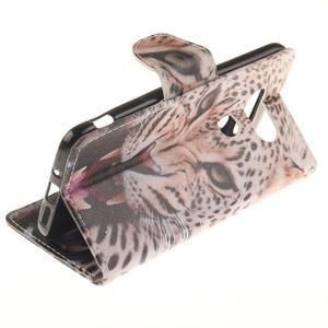 Obrázkové koženkové pouzdro na LG G5 - leopard - 6