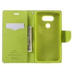 Goos stylové PU kožené pouzdro na LG G5 - modré - 6