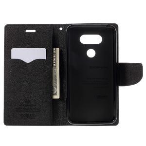 Goos stylové PU kožené pouzdro na LG G5 - černé - 6