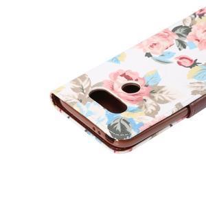 Květinové pouzdro na mobil LG G5 - bílý vzor - 6