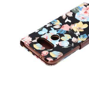 Květinové pouzdro na mobil LG G5 - černý vzor - 6
