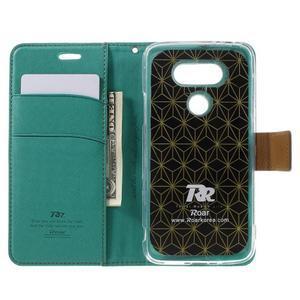 Diary PU kožené pouzdro na mobil LG G5 - zelené - 6
