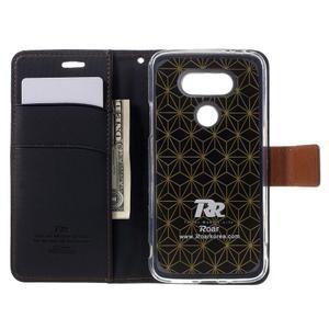 Diary PU kožené pouzdro na mobil LG G5 - černé - 6