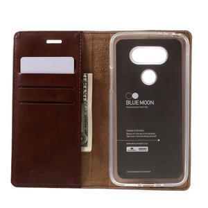 Luxury PU kožené pouzdro na mobil LG G5 - hnědé - 6