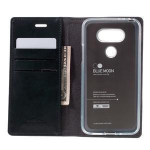 Luxury PU kožené pouzdro na mobil LG G5 - tmavěmodré - 6