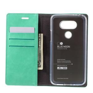 Luxury PU kožené pouzdro na mobil LG G5 - cyan - 6