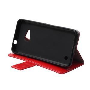 GX koženkové pouzdro na mobil Microsoft Lumia 550 - červené - 6
