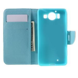 Peněženkové pouzdro na Microsoft Lumia 950 - modrý motýl - 6