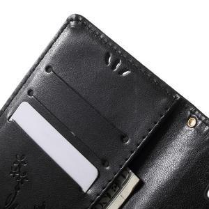 Buttefly PU kožené pouzdro na Microsoft Lumia 950 - černé - 6