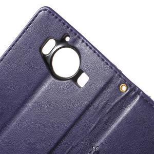 Buttefly PU kožené pouzdro na Microsoft Lumia 950 - fialové - 6