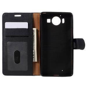 Cloth peněženkové pouzdro na mobil Microsoft Lumia 950 - černé - 6