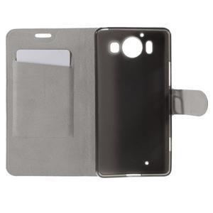 Horse PU kožené pouzdro na mobil Microsoft Lumia 950 - bílé - 6