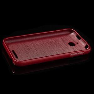 Brushed hladký gelový obal na HTC Desire 510 - červený - 6