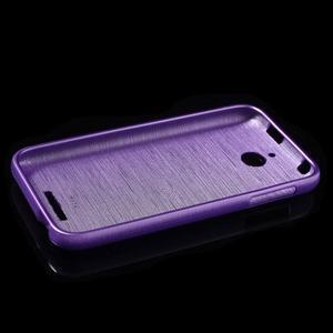 Brushed hladký gelový obal na HTC Desire 510 - fialový - 6