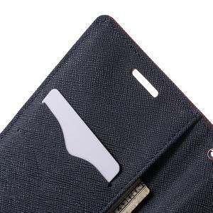 Diary PU kožené pouzdro na mobil HTC Desire 620 - červené - 6