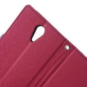 Diary PU kožené pouzdro na mobil HTC Desire 620 - rose - 6