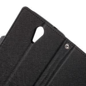 Diary PU kožené pouzdro na mobil HTC Desire 620 - černé - 6