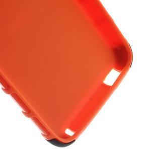 Outdoor odolný obal na mobil HTC Desire 620 - oranžový - 6