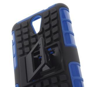 Outdoor odolný obal pre mobil HTC Desire 620 - modrý - 6