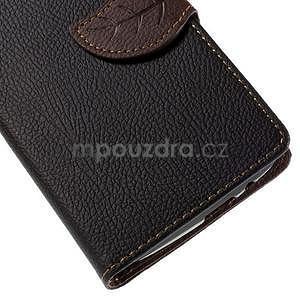 Černé peněženkové pouzdro na Huawei Ascend G7 - 6