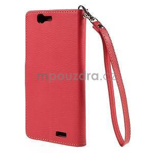 Červené peněženkové pouzdro na Huawei Ascend G7 - 6