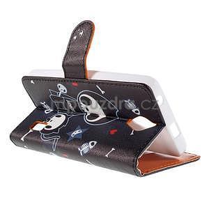 Zapínací peněženkové pouzdro na Huawei Y635 - fishbone - 6