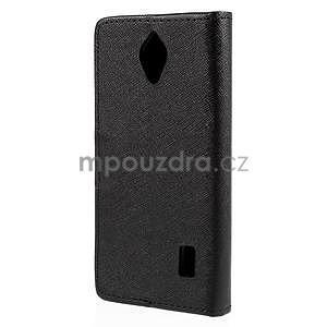 PU kožené černé pouzdro se zapínáním Huawei Y635 - 6