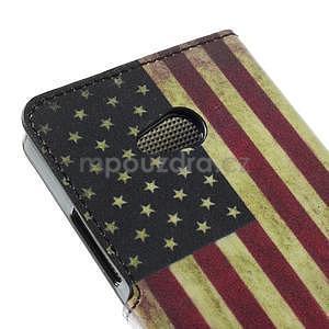 Peněženkové pouzdro na Microsoft Lumia 640 - vlajka USA - 6