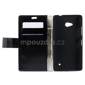 Peněženkové PU kožené pouzdro na Microsoft Lumia 640 - černé - 6