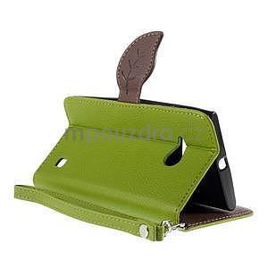 PU kožené pouzdro se zapínáním na Nokia Lumia 730/735 - zelené - 6