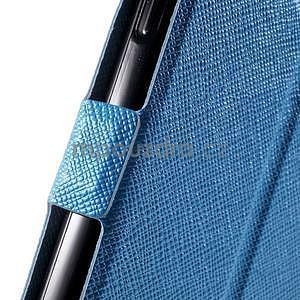 Klopové PU kožené pouzdro na Samsung Galaxy A3 - modré - 6