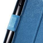Klopové PU kožené pouzdro na Samsung Galaxy A3 - modré - 6/7
