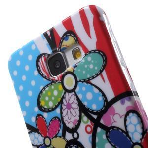 Obal s motivem na mobil Samsung Galaxy A5 (2016) - malované květy - 6
