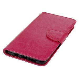 PU kožené pouzdro na mobil Samsung Galaxy A5 (2016) - rose - 6
