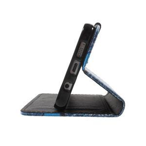 Koženkové pouzdro na Samsung Galaxy A5 (2016) - modrý motýl - 6