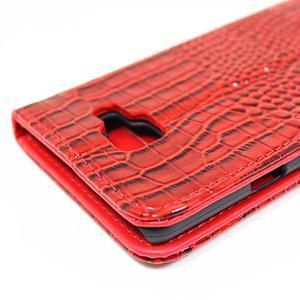 Croco peněženkové pouzdro Samsung Galaxy A5 (2016) - červené - 6
