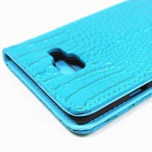 Croco peněženkové pouzdro Samsung Galaxy A5 (2016) - modré - 6
