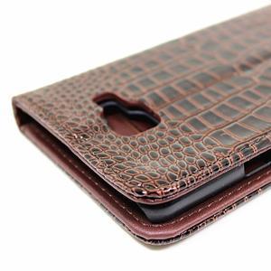 Croco peněženkové pouzdro Samsung Galaxy A5 (2016) - hnědé - 6
