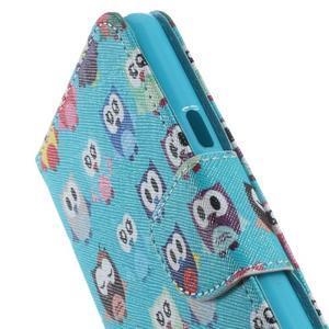 Softy peněženkové pouzdro na Samsung Galaxy A5 (2016) - sovičky - 6