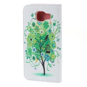 Softy peněženkové pouzdro na Samsung Galaxy A5 (2016) - zelený strom - 6