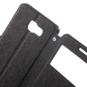 Peněženkové pouzdro s okýnkem na Samsung Galaxy A5 (2016) - černé - 6